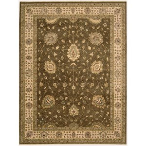 "Nourison Legend 8'6"" x 11'6"" Chocolate Area Rug"