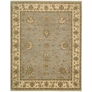 "Nourison Legend 8'6"" x 11'6"" Aqua Rectangle Rug"