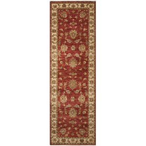 "Nourison Legend 2'6"" x 8' Red Runner Rug"