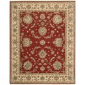 "Nourison Legend 7'9"" x 9'9"" Red Rectangle Rug - Item Number: LD02 RED 79X99"
