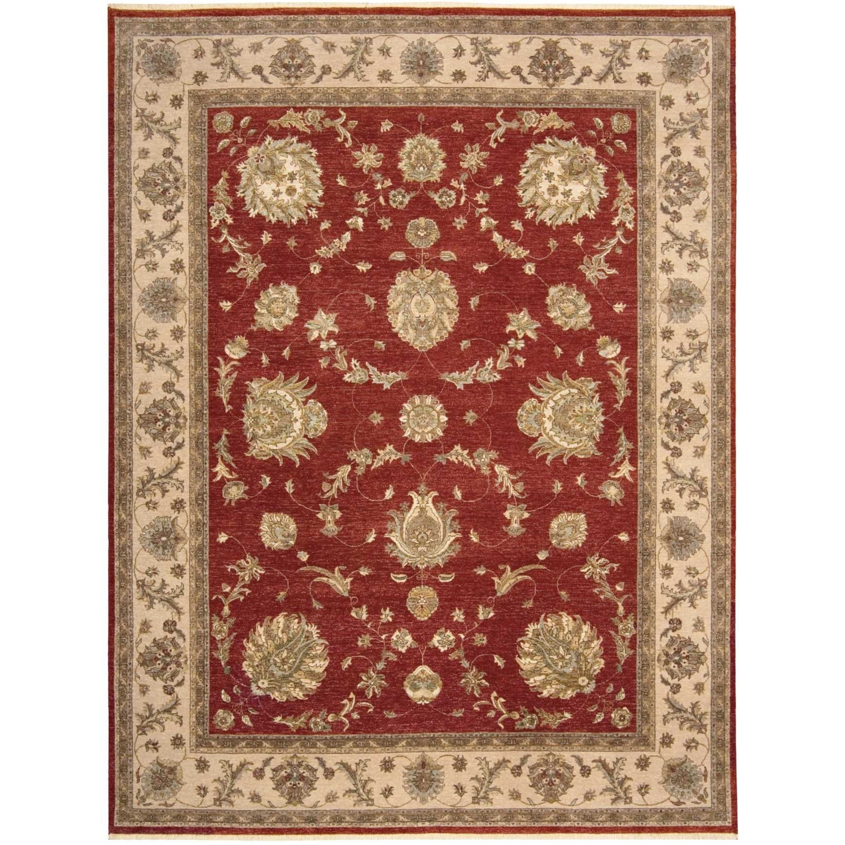 "9'9"" x 13'9"" Red Rectangle Rug"