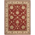 "Nourison Legend 9'9"" x 13'9"" Red Rectangle Rug - Item Number: LD02 RED 99X139"