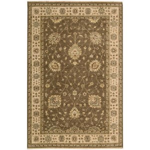 "Nourison Legend 5'6"" x 8'6"" Chocolate Rectangle Rug"