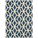 Nourison Linear 5' x 7' Blue/Ivory Rectangle Rug - Item Number: LIN01 BLUIV 5X7