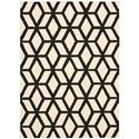 "Nourison Linear 3'9"" x 5'9"" Ivory/Black Rectangle Rug - Item Number: LIN01 IVBLK 39X59"