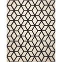 Nourison Linear 8' x 11' Ivory/Black Rectangle Rug - Item Number: LIN01 IVBLK 8X11