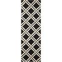 """Nourison Linear 2'3"""" x 7'6"""" Black/White Runner Rug - Item Number: LIN04 BKW 23X76"""
