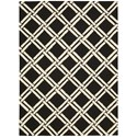 Nourison Linear 5' x 7' Black/White Rectangle Rug - Item Number: LIN04 BKW 5X7