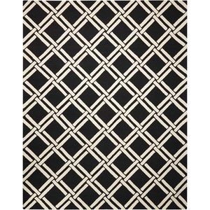 Nourison Linear 8' x 11' Black/White Rectangle Rug