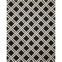 Nourison Linear 8' x 11' Black/White Rectangle Rug - Item Number: LIN04 BKW 8X11