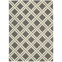 Nourison Linear 5' x 7' Grey/Ivory Rectangle Rug - Item Number: LIN04 GRYIV 5X7