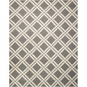 Nourison Linear 8' x 11' Grey/Ivory Rectangle Rug - Item Number: LIN04 GRYIV 8X11