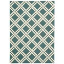 "Nourison Linear 3'9"" x 5'9"" Teal/Ivory Rectangle Rug - Item Number: LIN04 TLIV 39X59"