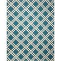 Nourison Linear 8' x 11' Teal/Ivory Rectangle Rug - Item Number: LIN04 TLIV 8X11