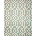Nourison Linear 8' x 11' Aqua/Ivory Rectangle Rug - Item Number: LIN05 AQUIV 8X11