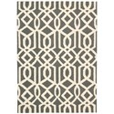 Nourison Linear 5' x 7' Grey/Ivory Rectangle Rug - Item Number: LIN05 GRYIV 5X7