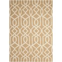 "Nourison Linear 3'9"" x 5'9"" Sand/Ivory Rectangle Rug - Item Number: LIN05 SNDIV 39X59"