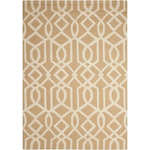 Nourison Linear 5' x 7' Sand/Ivory Rectangle Rug