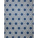 Nourison Linear 8' x 11' Blue/Ivory Rectangle Rug - Item Number: LIN07 BLUIV 8X11