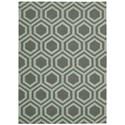 Nourison Linear 5' x 7' Grey/Aqua Rectangle Rug - Item Number: LIN07 GRYAQ 5X7