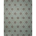 Nourison Linear 8' x 11' Grey/Aqua Rectangle Rug - Item Number: LIN07 GRYAQ 8X11
