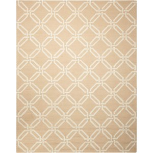 Nourison Linear 8' x 11' Beige Rectangle Rug