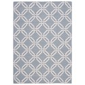 Nourison Linear 5' x 7' Light Blue Rectangle Rug - Item Number: LIN08 LTB 5X7
