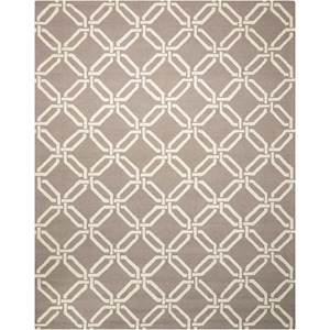 Nourison Linear 8' x 11' Silver Rectangle Rug
