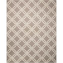 Nourison Linear 8' x 11' Silver Rectangle Rug - Item Number: LIN08 SIL 8X11