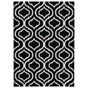 Nourison Linear 5' x 7' Black/White Rectangle Rug - Item Number: LIN15 BKW 5X7