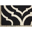 Nourison Linear 5' x 7' Black/White Rectangle Rug