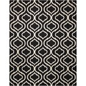 """Nourison Linear 7'6"""" x 9'6"""" Black/White Rectangle Rug - Item Number: LIN15 BKW 76X96"""