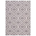 """Nourison Linear 3'9"""" x 5'9"""" Silver Rectangle Rug - Item Number: LIN15 SIL 39X59"""