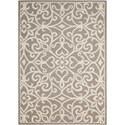 "Nourison Linear 3'9"" x 5'9"" Silver/Ivory Rectangle Rug - Item Number: LIN19 SILIV 39X59"