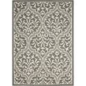 """Nourison Linear 3'9"""" x 5'9"""" Grey/Ivory Rectangle Rug - Item Number: LIN20 GRYIV 39X59"""
