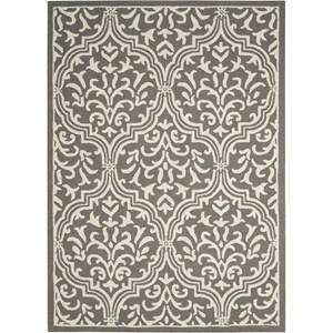Nourison Linear 8' x 11' Grey/Ivory Rectangle Rug