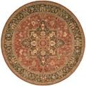 "Nourison Living Treasures 5'10"" x 5'10"" Rust Round Rug - Item Number: LI01 RUS 510X510"