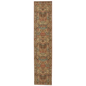 "Nourison Living Treasures 2'6"" x 12' Multicolor Runner Rug"