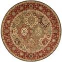 """Nourison Living Treasures 5'10"""" x 5'10"""" Multicolor Round Rug - Item Number: LI03 MTC 510X510"""