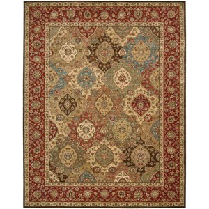 "Nourison Living Treasures 8'3"" x 11'3"" Multicolor Rectangle Rug"