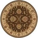 "Nourison Living Treasures 5'10"" x 5'10"" Brown Round Rug - Item Number: LI04 BRN 510X510"