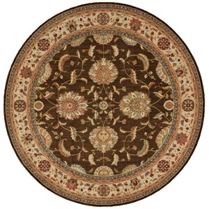 "Nourison Living Treasures 7'10"" x 7'10"" Brown Round Rug"