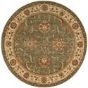 "Nourison Living Treasures 5'10"" x 5'10"" Green Round Rug - Item Number: LI04 GRE 510X510"