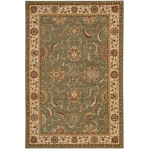 "Nourison Living Treasures 5'6"" x 8'3"" Green Rectangle Rug"
