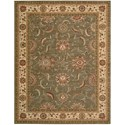 "Nourison Living Treasures 8'3"" x 11'3"" Green Rectangle Rug - Item Number: LI04 GRE 83X113"