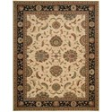 "Nourison Living Treasures 8'3"" x 11'3"" Ivory/Black Rectangle Rug - Item Number: LI04 IBK 83X113"