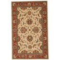 "Nourison Living Treasures 3'6"" x 5'6"" Ivory/Red Rectangle Rug - Item Number: LI04 IRD 36X56"