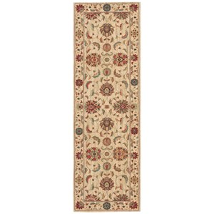 "Nourison Living Treasures 2'6"" x 8' Ivory Runner Rug"