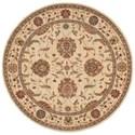 "Nourison Living Treasures 7'10"" x 7'10"" Ivory Round Rug - Item Number: LI04 IV 710X710"