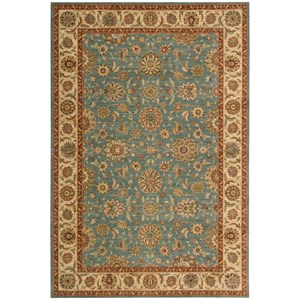 "Nourison Living Treasures 5'6"" x 8'3"" Aqua Rectangle Rug"